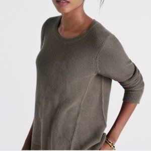 Madewell Riverside Textured Sweater XS Green